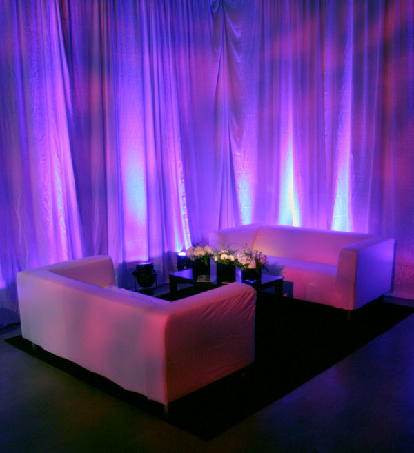 Couches Draping And Lighting Oh My Event Lighting Blog