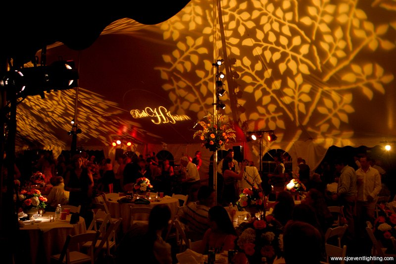 Monogram Gobo Projection with Ceiling Texture and Band/Dance Floor Lighting & CJC | Event Lighting Blog azcodes.com